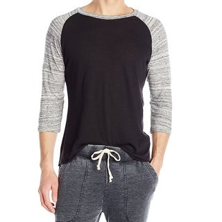 Alternative Apparel NEW Black Mens Size Large L Baseball Tee T-Shirt