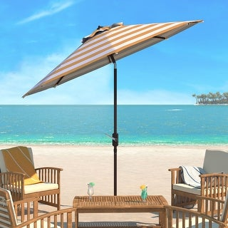 Link to SAFAVIEH Iris Fashion Line 9 Ft. Umbrella, Base Not Included Similar Items in Patio Umbrellas & Shades