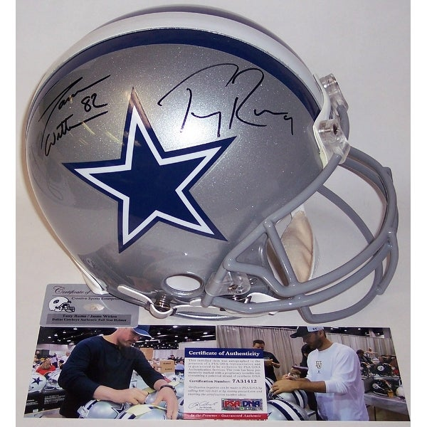 best loved 4d308 d3749 Jason Witten & Tony Romo Autographed Hand Signed Dallas Cowboys Full Size  Authentic Helmet - PSA/DNA