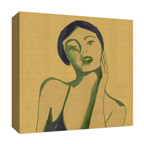 """PTM Images 9-126823 PTM Canvas Collection 12"""" x 12"""" - """"Sepia Woman IV"""" Giclee Women Art Print on Canvas"""