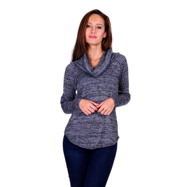 Simply Ravishing Women's Long Sleeve Stretchable Cowl Sweater