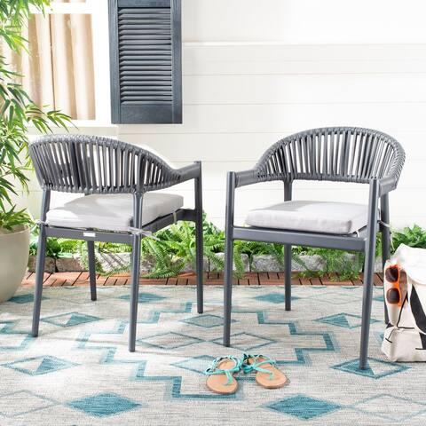 "Safavieh Outdoor Living Greer Rope Chair - Grey (Set of 2) - 22.4""x23.6""x31"""