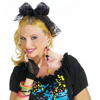 80s Lace Hair Tie Adult Costume Accessory