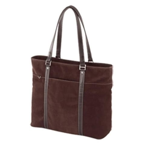 Mobile Edge Chocolate Suede Tote Brown 15.4in METL08 Pack Of 5