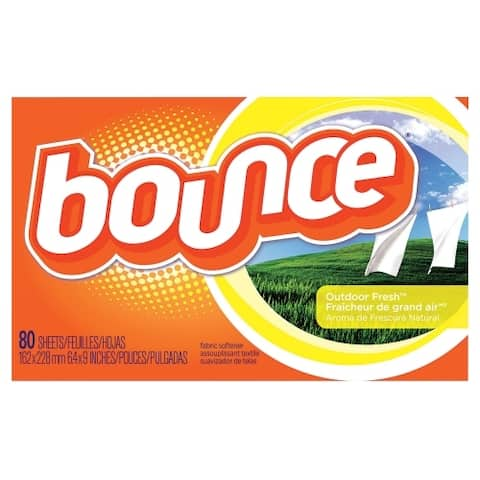 Bounce 80068 Fabric Softener Sheets, Outdoor Fresh Scent, 80 Count