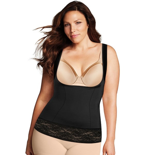 15a7467dec6 Shop Maidenform Firm Foundations Curvy WYOB Torsette - Color - Black - Size  - XL - Free Shipping Today - Overstock.com - 22706212