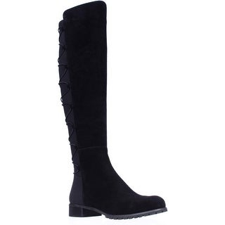 MICHAEL Michael Kors Skye Back Lace Up Over The Knee Boots - Black