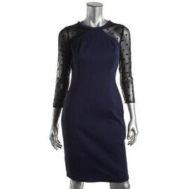 Catherine Malandrino Womens Mesh Inset Open Back Cocktail Dress - 4