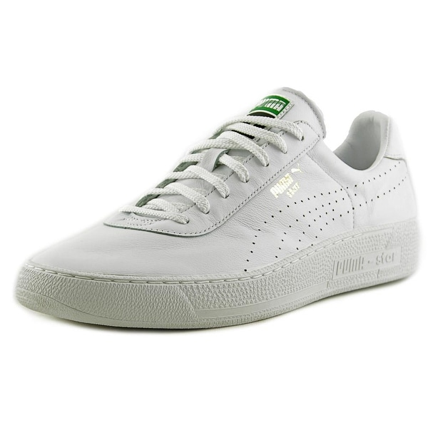 Puma Star Perforated Athletic Low Top Men Round Toe Leather White Sneakers