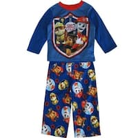 Nickelodeon Little Boys Royal Blue Red Paw Patrol 2 Pc Sleepwear Set