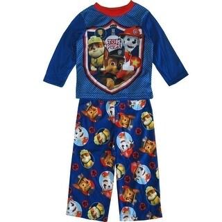 Nickelodeon Little Boys Royal Blue Red Paw Patrol 2 Pc Sleepwear Set