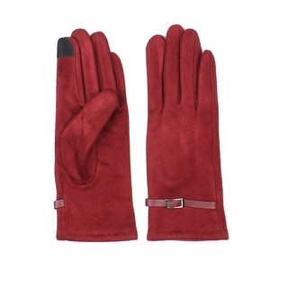 Womens Faux Suede Lined Texting Gloves