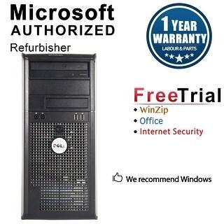 Dell OptiPlex 760 Computer Tower Intel Core 2 Duo E7600 3.0G 4GB DDR2 250G Windows 7 Home 1 Year Warranty (Refurbished) - Silver