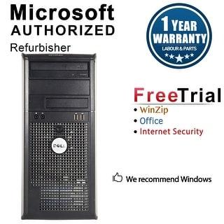 Dell OptiPlex 780 Computer Tower Intel Core 2 Quad Q8200 2.33G 4GB DDR3 250G Windows 10 Pro 1 Year Warranty (Refurbished)