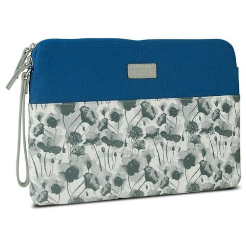 Greene + Gray Zippered Tablet/Laptop Sleeve Case for Microsoft Surface Pro 3 - Blue Floral