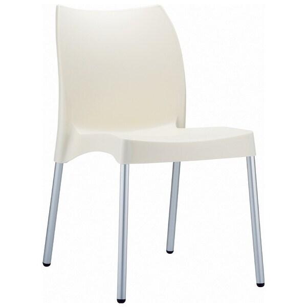 Vita Resin Outdoor Dining Chair (Set of 2) - Beige - Brown