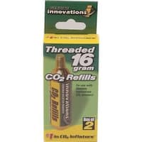 Genuine Innovations 16 Gram Threaded CO2 Cartridge - 2 Pack - G2150