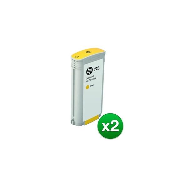 HP 728 130-ml Yellow DesignJet Ink Cartridge (F9J65A)(2-Pack)