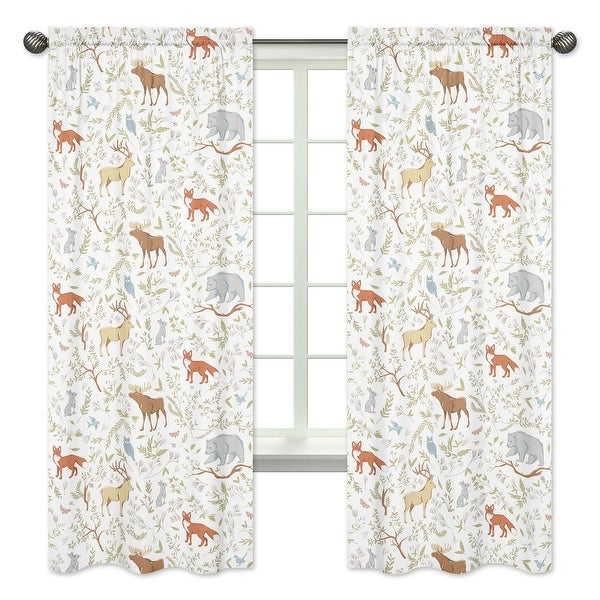 Sweet Jojo Designs Woodland Toile Cotton 84-inch Window Treatment Curtain Panel Pair. Opens flyout.