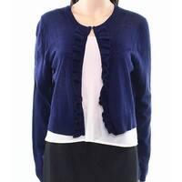 4e2362e49c Tommy Hilfiger NEW Navy Blue Women Size XL Ruffled Trim Cardigan Sweater