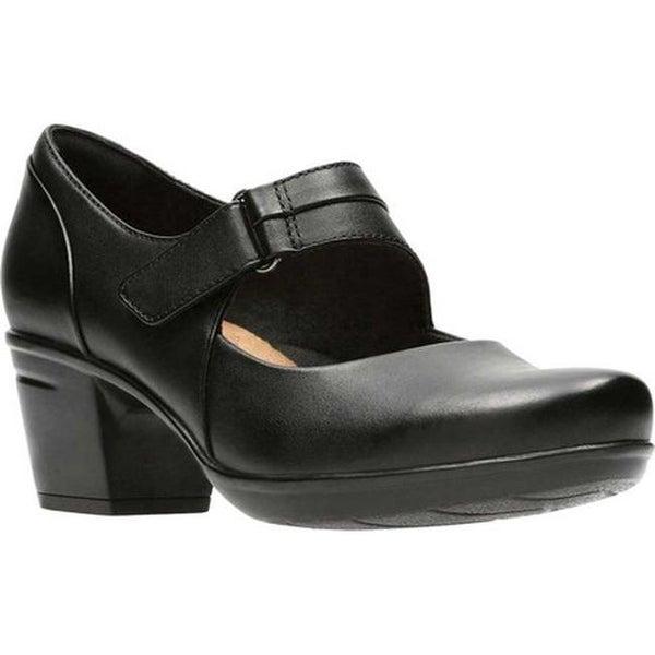 Clarks Women's Emslie Lulin Mary Jane Black Full Grain Leather