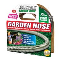 "Metal Garden Hose 54390 As Seen On TV Garden Hose, Stainless Steel, Silver, 5/8"" x 75'"