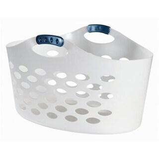 Rubbermaid 1.5 Bushel White Flex Basket FG260100WHT - Pack of 6