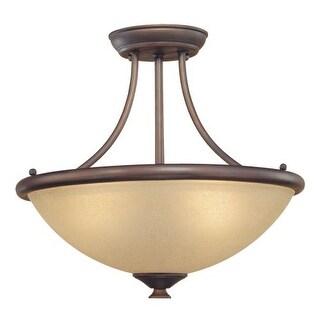 Millennium Lighting 7113 3 Light Semi-Flush Ceiling Fixture