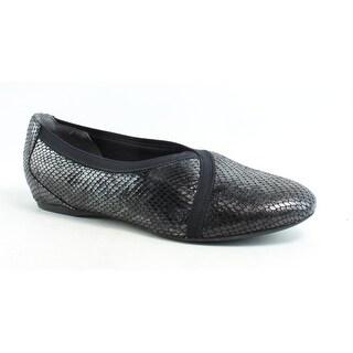 Rockport Womens Total Motion Envelope Flat Black Ballet Flats Size 8.5