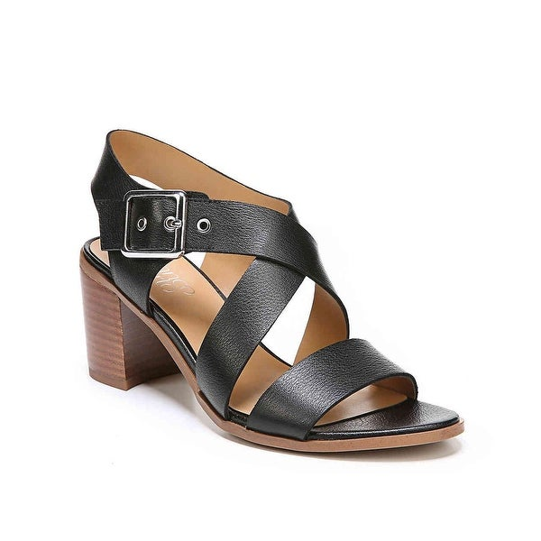 f8ee163c0ca Franco Sarto Womens helga Leather Open Toe Casual Strappy Sandals - 10