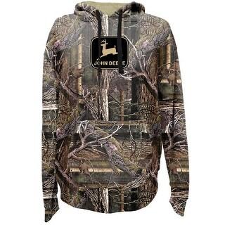John Deere Western Sweatshirt Men L/S Logo Poly Fleece Hoodie 14090000