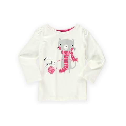 Gymboree Girls Knit 1 Purrrl 2 Graphic T-Shirt - 6-12 mos