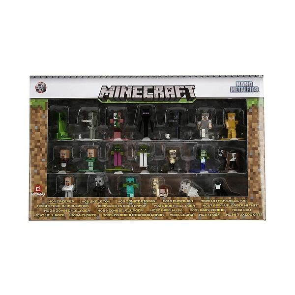 Minecraft Nano Metalfigs Die-Cast Metal Mini-Figure 20-Pack - multi