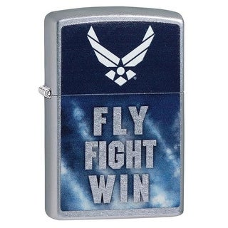Zippo United States Air Force Fly Fight Win Street Chrome Lighter