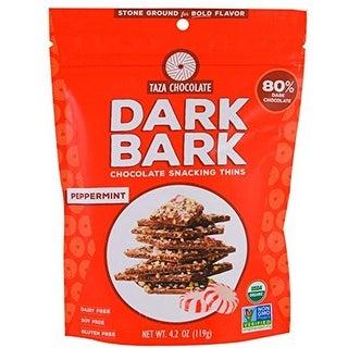 4.2 oz Peppermint Organic Dark Bark Chocolate - Case of 12