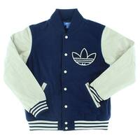 fe6154ff164221 Adidas Mens Nigo 25 College Varsity Jacket Navy Blue - navy blue off white