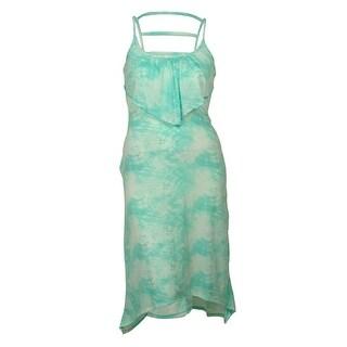 Miken Women's Maxi Flounce Tie-Dye Dress Cover ups - Mint