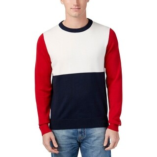 Tommy Hilfiger Mens Pullover Sweater Colorblock Long Sleeves