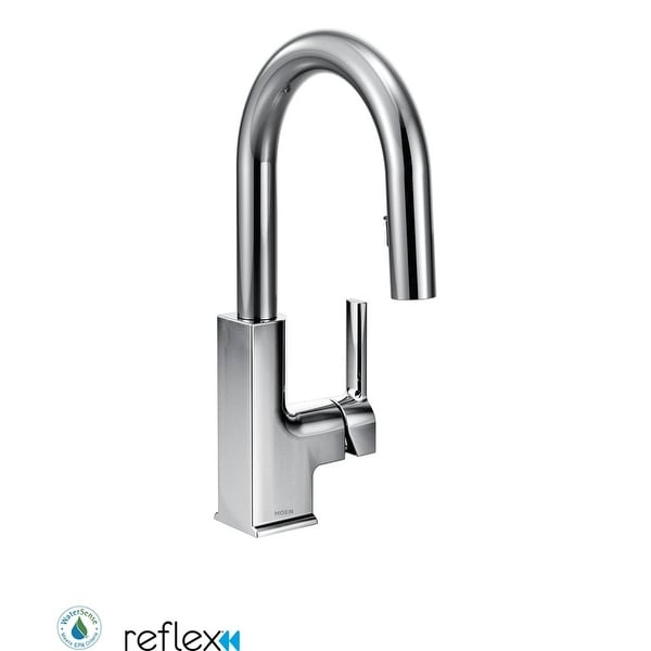 Moen S62308 STo 1.5 GPM Single Hole Pull Down Bar Faucet with Reflex, Spot Resist Finish, Duralock, and Duralast