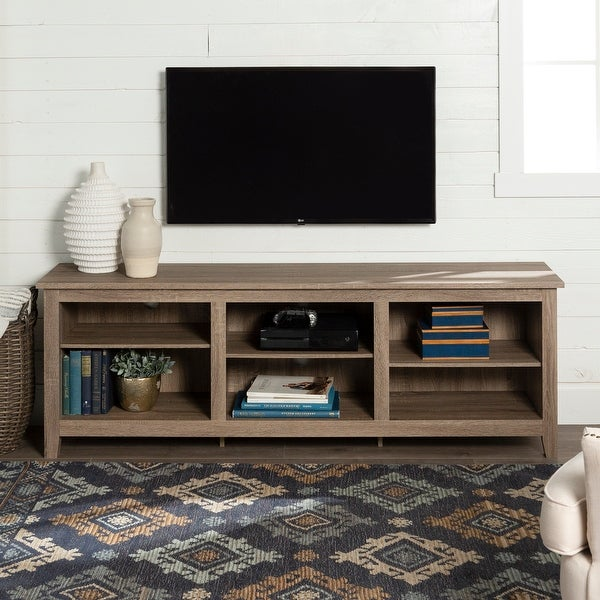 Copper Grove Beaverhead 70-inch Driftwood TV Stand Console. Opens flyout.