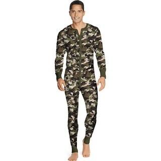 Hanes Men's X-Temp Camo Thermal Union Suit 3X-4X