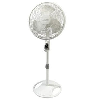 Lasko 1646 16 In. Remote Control Stand Fan, White