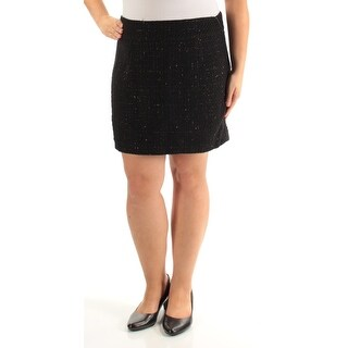 Womens Black Casual Skirt Size 14