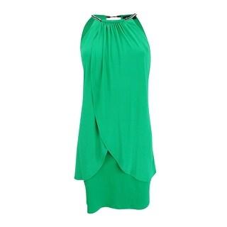 Jessica Simpson Woman's Sleeveless Embellished Sheath Dress