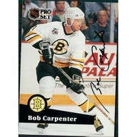 Signed Carpenter Bobby Boston Bruins 1991 Pro Set Hockey Card autographed
