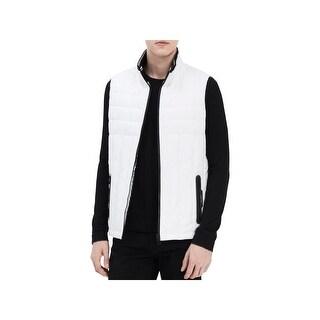 Calvin Klein Mens Outerwear Vest Logo Puffer