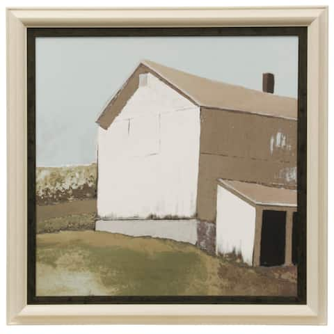 StyleCraft Lonely Barn In Neutral IV Traditional Farmhouse Wall Art Textured Framed Print
