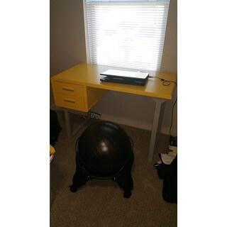 Clay Alder Home Retro Yellow and Grey Writing Desk