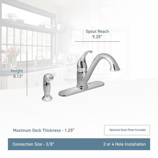 Moen 7840 Camerist Low-Arc Kitchen Faucet and Side Spray