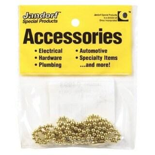"Jandorf 94993 Bead Chain, 36"" Length, Yellow Brass"